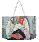 Gypsy Woman With Baby Weekender Tote Bag by Amedeo Modigliani