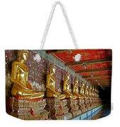 Hall Of Buddhas At Wat Suthat In Bangkok-thailand Weekender Tote Bag