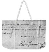Hamilton: Appointment, 1777 Weekender Tote Bag