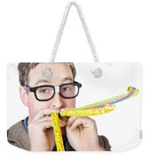Handsome Business Man. Party For Many Year Service Weekender Tote Bag