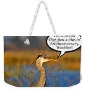 Happy Heron Anniversary Card Weekender Tote Bag