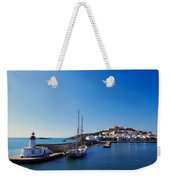 Harbor In Ibiza Town Weekender Tote Bag