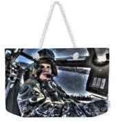 Hdr Image Of A Pilot Equipped Weekender Tote Bag