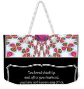 Heart And Love Design 16 With Bible Quote Weekender Tote Bag