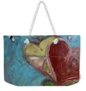 Heart Shape Painted On A Wall, Safed Weekender Tote Bag