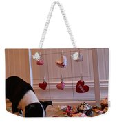 Hearts On The Line Weekender Tote Bag