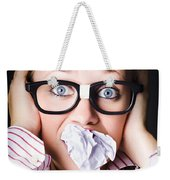 Hectic Business Person Under Stress Overload Weekender Tote Bag