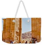 Hellenistic Gateway In Petra-jordan  Weekender Tote Bag