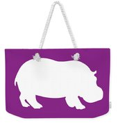 Hippo In Purple And White Weekender Tote Bag