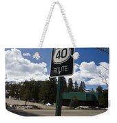 Historic Route Us 40 Sign Weekender Tote Bag