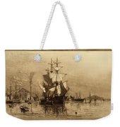Historic Seaport Schooner Weekender Tote Bag