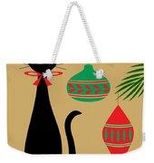 Holiday Cat Weekender Tote Bag