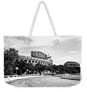 Home Field Advantage - Bw Texture Weekender Tote Bag