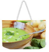 Homemade Potato And Spinach Soup Weekender Tote Bag