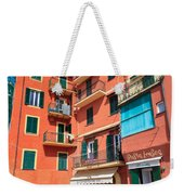 homes and promenade in Camogli Weekender Tote Bag