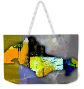 Honolulu Map And Skyline Watercolor Weekender Tote Bag