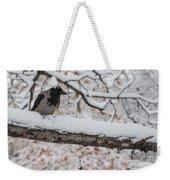 Hooded Crow First Snow Weekender Tote Bag