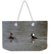 Hooded Merganser Pair Weekender Tote Bag