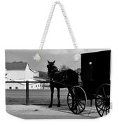 Horse And Buggy And Farm Weekender Tote Bag