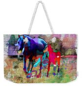 Horses Of Different Colors Weekender Tote Bag