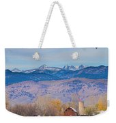 Hot Air Balloon Rocky Mountain County View Weekender Tote Bag