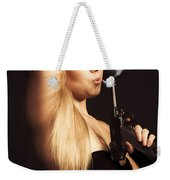 Hot Shot Woman Weekender Tote Bag