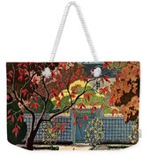House And Garden Fall Planting Number Cover Weekender Tote Bag