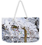 House Under Snow Weekender Tote Bag by Elena Elisseeva