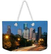 Houston Skyline At Dusk Weekender Tote Bag