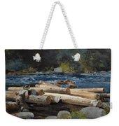 Hudson River Weekender Tote Bag by Winslow Homer
