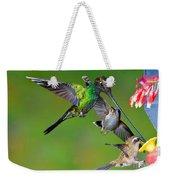 Hummingbirds At Feeder Weekender Tote Bag