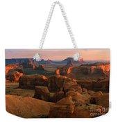 Hunts Mesa In Monument Valley Weekender Tote Bag