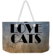 I Love Cats Weekender Tote Bag