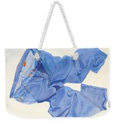 Watercolor   I Love My Jeans  Weekender Tote Bag