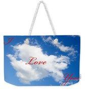 1 I Love You Heart Cloud Weekender Tote Bag
