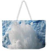 Ice Falling Off Glacier Alaska Weekender Tote Bag
