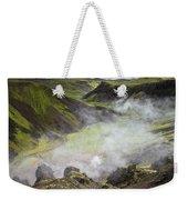 Iceland Steam Valley Weekender Tote Bag
