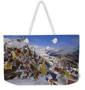 Icy Prayer Flags Himalaya Weekender Tote Bag