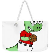 Illustration Of A Pachycephalosaurus Weekender Tote Bag by Stocktrek Images