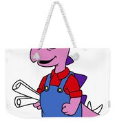 Illustration Of A Stegosaurus Weekender Tote Bag