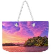 Indian Ocean Sunset Weekender Tote Bag