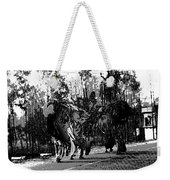 Indian Women Carrying Heavy Loads Along The Highway Weekender Tote Bag