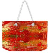 Golden Abstract Painting  Weekender Tote Bag