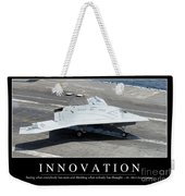 Innovation Inspirational Quote Weekender Tote Bag