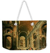 Interior Of St Peters In Rome Weekender Tote Bag by Giovanni Paolo Panini