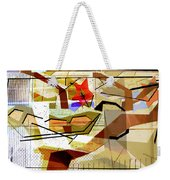 Interstate 10- Exit Out West- Where Life Begins New- Rectangle Remix Weekender Tote Bag