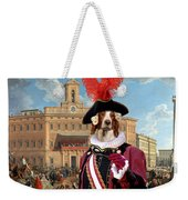 Irish Red And White Setter Art Canvas Print Weekender Tote Bag