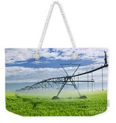 Irrigation Equipment On Farm Field Weekender Tote Bag by Elena Elisseeva