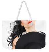 Isolated Beauty Portrait. Womens Hats And Headwear Weekender Tote Bag