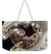 Iss Expedition 38 Spacewalk Weekender Tote Bag by Science Source